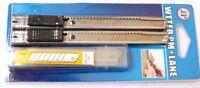 Paquet de 2 Mini Cutter Couteaux(13 x 1 cm) + 10 Lames de Rechange en métal