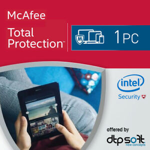 McAfee Total Protection 2021 1 Device 1 Year UK /PC/Mac/Android/iOS/