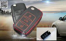 Car Leather key cover case for VW polo passat b5 b6 golf 4 5 6 jetta mk6 tiguan
