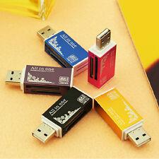 1x USB 2.0 Multi-Speicherkartenleser für Micro SD SDHC TF M2 MMC MS DUO PAL