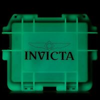 New Invicta 3 Slot Impact Blue Glow in the Dark Hard Dive Storage Collector Case