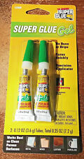 ☆ BEST DEAL ☆ ORIGINAL SUPER GLUE GEL 2  ☆ BIG ☆ TUBES. EACH .12 OZ. (3.6 GRAMS)
