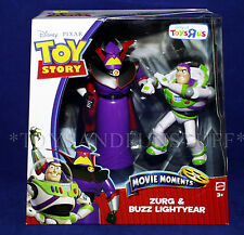 "New ZURG & BUZZ LIGHTYEAR Toy Story 3 Posable 6"" Figures MOVIE MOMENTS 2010 TRU"