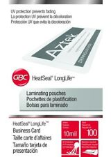 GBC 100 Business Card 10 Mil Laminating Pouches Laminator Sheets 2-1/4 x 3-3/4