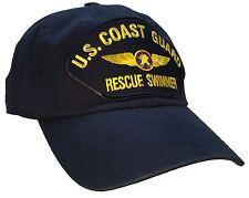 "Coast Guard Rescue Swimmer Hat Dark Blue ""Dad"" Cap 100% Unstructured Cotton"