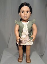 "Beautiful HTF Battat Our Generation African American Girl 18"" doll black hair"