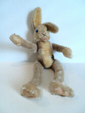 "Adorable Vintage 1950's Steiff Mohair ""Lulac"" Jointed 14"" Rabbit with Button"