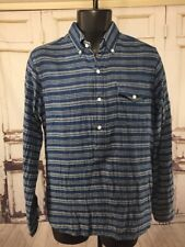 Polo Ralph Lauren  Long Sleeve Pullover Shirt 1/2 Button Front Stripe Small S