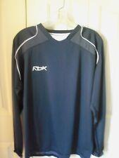 Men'S Reebok Play Dry Navy Blue Long Sleeve Athletic Wear Size L