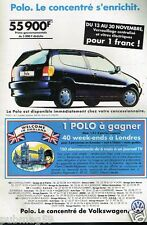 Publicité advertising 1995 Volkswagen Polo 1,4 L
