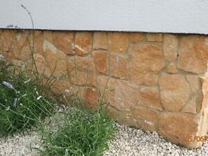 1 m² Sandstein Verblender, Riemchen, Wandverkleidung, Haussockel, S-2074