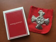 1992 Reed & Barton Sterling Silver Christmas Cross Pendant Ornament With Box