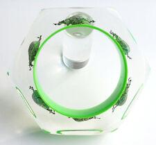 Funky green lucite bracelet with real metallic beetles Kolos Studio