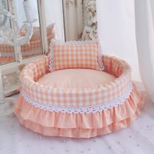 Dog Kennel Small Canine Princess Bed Washable Cute Pet Bed Summer Nest Dog House