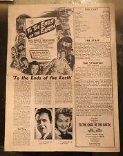 TO THE ENDS OF THE EARTH (1948) Classic Dick Powell Narco Noir Pressbook
