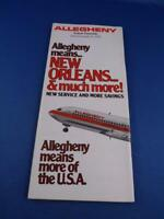ALLEGHENY AIRLINES SYSTEM TIMETABLE JUNE 1979 PLANES TRAVEL FLYING ADVERTISING