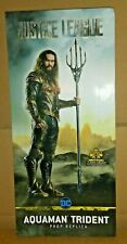 THE NOBLE COLLECTION DC WB JUSTICE LEAGUE AQUAMAN TRIDENT EXCLUSIVE PROP REPLICA