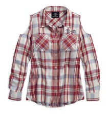 20386f7da83ece Harley-Davidson Womens Americana Eagle Plaid Shirt