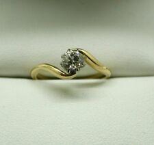 Antique/ Vintage 18 Carat Gold 0.50 Carat Diamond Solitaire Ring Size J.1/2
