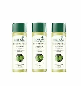 Bio Bhringraj Hair Oil (120 ml) -Pack of 3 From Biotique Free Shipping Worldwide