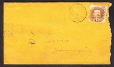 US 112 1869 1c Franklin on Dowagiac Michigan Cover SCV $280