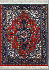 MOUSERUG MOUSE PAD TABRIZ HERIZ ORIENTAL RUG ORIENTAL COMPUTER RUGS NEW 10X7.25""