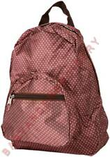 Mini Backpack Brown Pink Polka Dots Embroidery Option FREE Rhinestone Transfer
