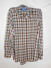 Pendleton Shadow Plaid-Men's Large-Button Down-Long Sleeved Shirt-100% Wool!