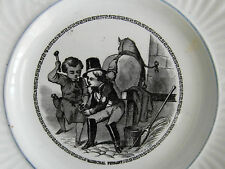assiette ancienne faience CREIL MONTEREAU  XIXè époque LEBOEUF - MILLET
