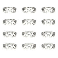 Silver Custom Ring For Women Men Infinity Promise Sisters Best Friends Rings