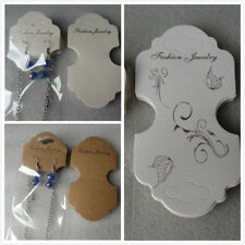 20 - 100 Butterfly White Brown Necklace & Earring Display Cards Clear Packaging