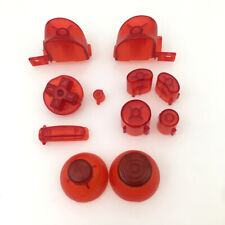 ABXYZ/L R Buttons+Analog ThumbSticks D-pad(Clear Red) for Nintendo Gamecube NGC