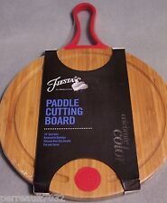 """NWT Fiesta® SCARLET 10"""" Round Bamboo Paddle - Cutting Board"""