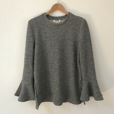 Shilla The Label Grey Sweater Jumper Delicate Bell Sleeve, Size M/ AU 10 BNWT
