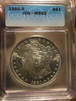 1880-s ICG MS-62 Morgan Rare Deep Mirrors Gorgeous Coin Compare To Other Ms Adds