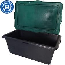 Mörtelkasten 90 Liter Mörtelwanne Mörtelkübel Zementkübel Lagerbox mit Deckel