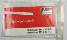 Massey Ferguson MF235 MF245 -8G Wartungsdienstheft Wartungsheft Scheckheft