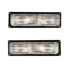 94-00 Chevy Blazer/CK/Tahoe Driver & Passenger Parking Turn Signal Lights Pair