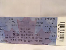 Meat Loaf Concert Ticket Stub 3-20-2007 Hamilton ON Canada