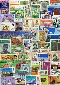 Brunei - collection of 50x different stamps - good mixture of mint and used