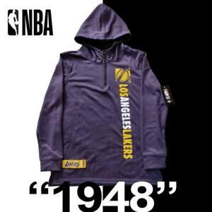 """Youth Los Angeles Lakers """"1948"""" NBA Printed Hoodie 1/4 Zip LS Kids VLY7009F $70"""