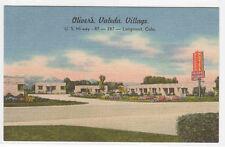 Oliver's Valeda Village Motel US 87 Longmont Colorado linen postcard