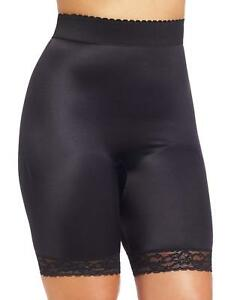 Rago Shapewear Light Shaping High Waist Long Leg Black Bike Short Size 50/10XL