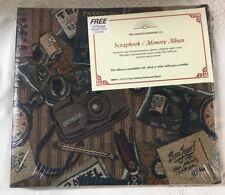 12x12 Travel Tapestry Passport Vacation Scrapbook Album 10 Pgs Sealed Protectors