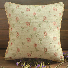 "20x20"" Retro Country Roses Tapestry Decorative Throw Pillow Case Cushion Cover"