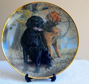 Vintage Plate Franklin Mint Heirloom Porcelain Dog Nigel Hemming Collector Plate