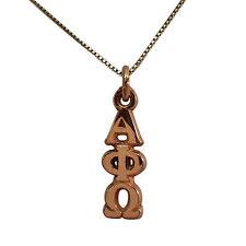 Alpha Phi Omega 14k Gold Plated Fraternity Lavalier w/o Chain APO