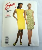 McCall's Sewing Pattern # 2166 Misses Semi-Fitted Sleeveless Dress Sz 8-10-12-14