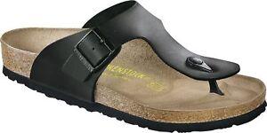 Birkenstock Ramses Zehensteg Sandale Schwarz Größe 40-50 Fußbett normal