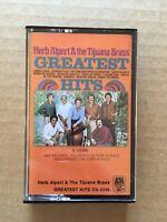 Herb Alpert and the tijuana brass Greatest Hits Cassette Tape Cs-4245 Tested Vg+